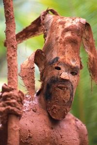 Mud Dancer Wearing a Mask
